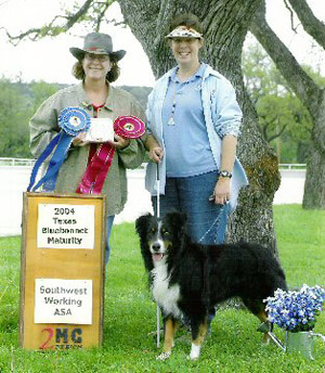 Winner of the SWASA Bluebonnet Maturity, 2004